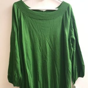 NEW Green Merona Pullover Top Sweater Size 28W-30W